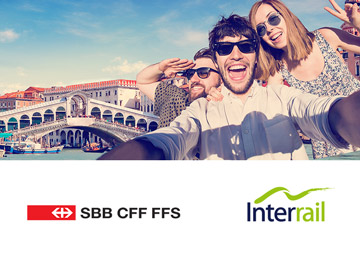 Interrail – Co Branding Kampagne mit SBB 2017